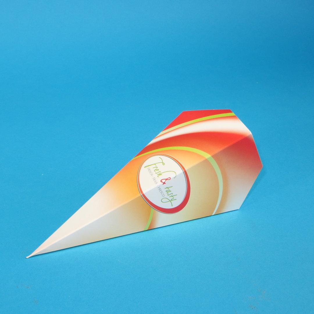 """Spitztüte aus Hartpapier 147x209mm """"Fresh & Tasty"""" 500St"""