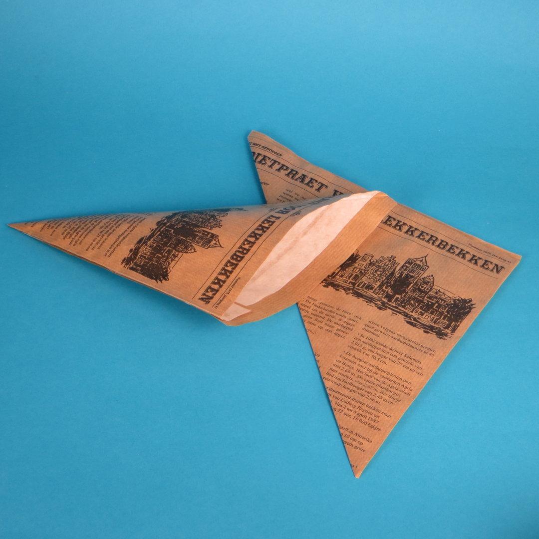 Snack Spitztüten Zeitung braun fettdicht 500St versch. Größen