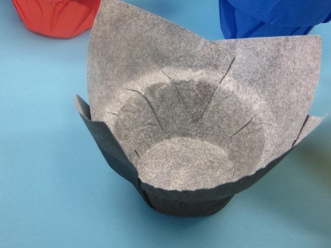 Muffin Tulip Gebäckkapseln Blau Dome extra breit 4200St.