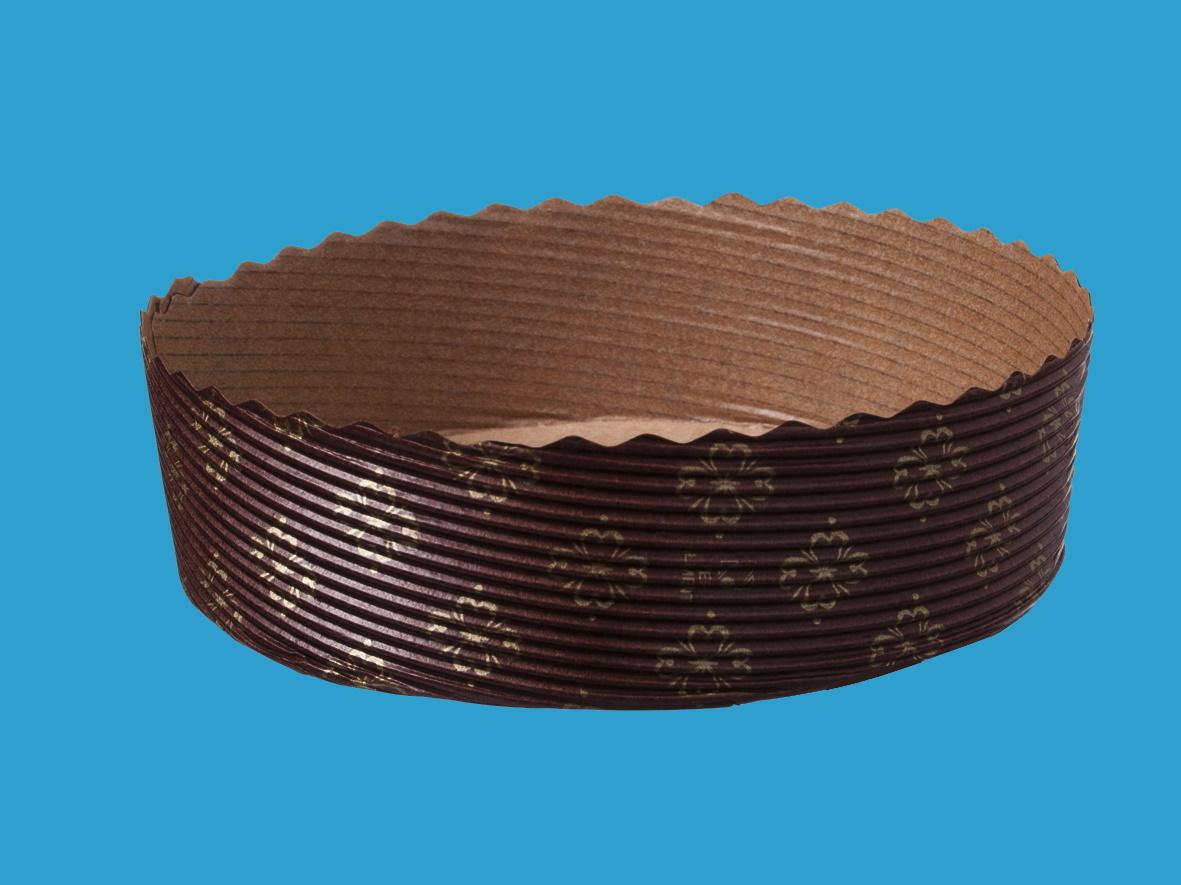 Einwegbackformen Papier rund Ø120mm 35mm hoch 300St