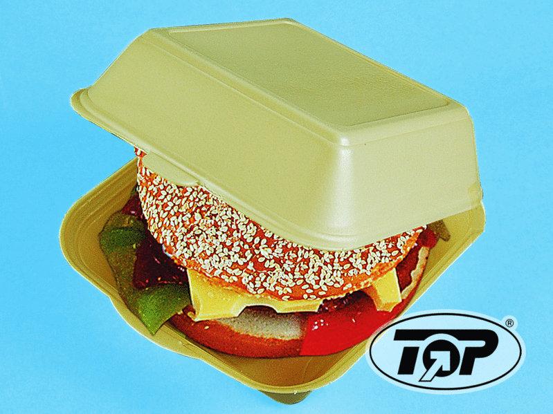 Hamburgerbox XXL geschäumt weiß groß 210x210x110mm 200St.
