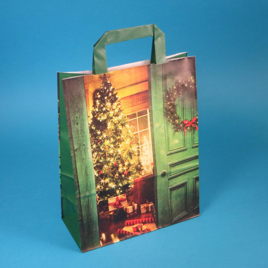 """Papiertragetaschen 22+10x28cm """"Weihnachtsstube"""" 250St"""