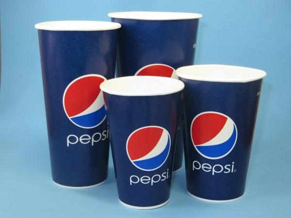 "Trinkbecher Pappe 400ml ""Pepsi Cola""  1000St"