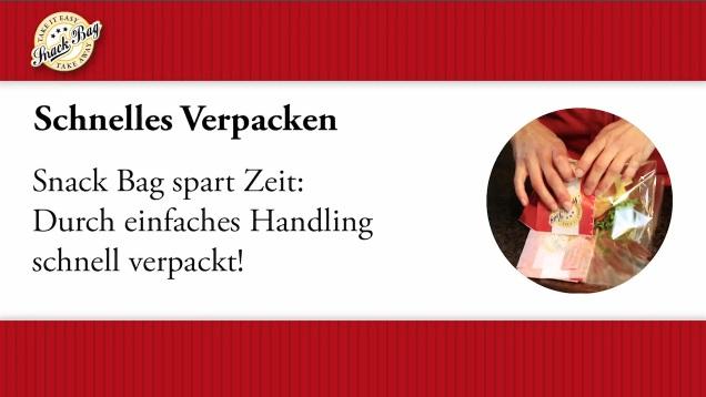 "Snack Bag L ""Fresh & tasty""m. Abreißfolie 215x80x225mm 1000St"