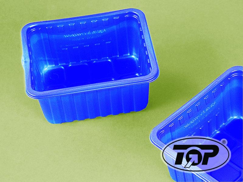 Champignon Pilz Schale für 250g blau 1000St