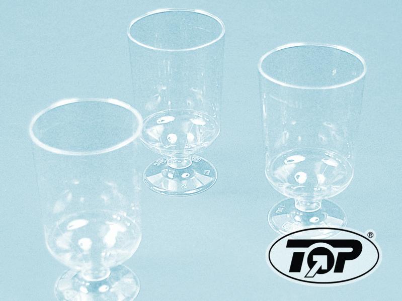 Trinkglas mit Fuß 100ml Spritzguss klar 600St.