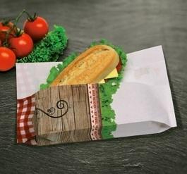 "Snack Sandwich Bag ""Fresh & Delicious"" 170x280mm 500St"
