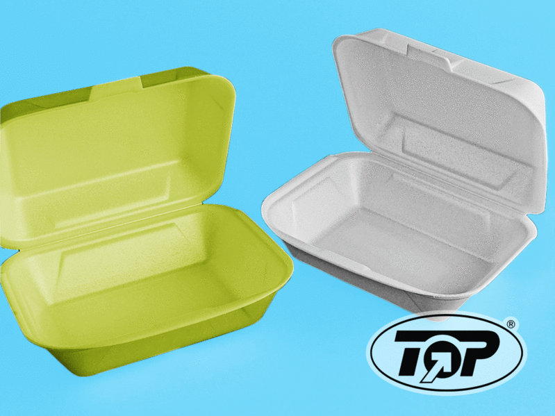 Doppelburgerbox HP2 creme 185x155x80mm 500St