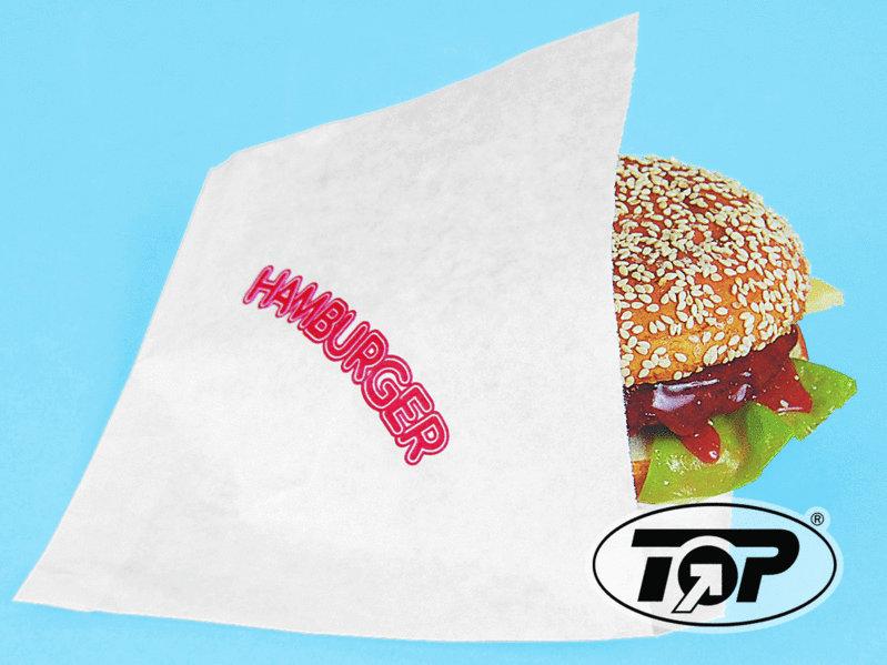 Hamburgertasche 16x16cm mit Neutraldruck Kraftpapier 2.000St.