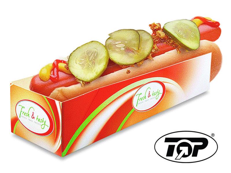 """Hot Dog Tray """"Fresh & Tasty"""" 500St."""