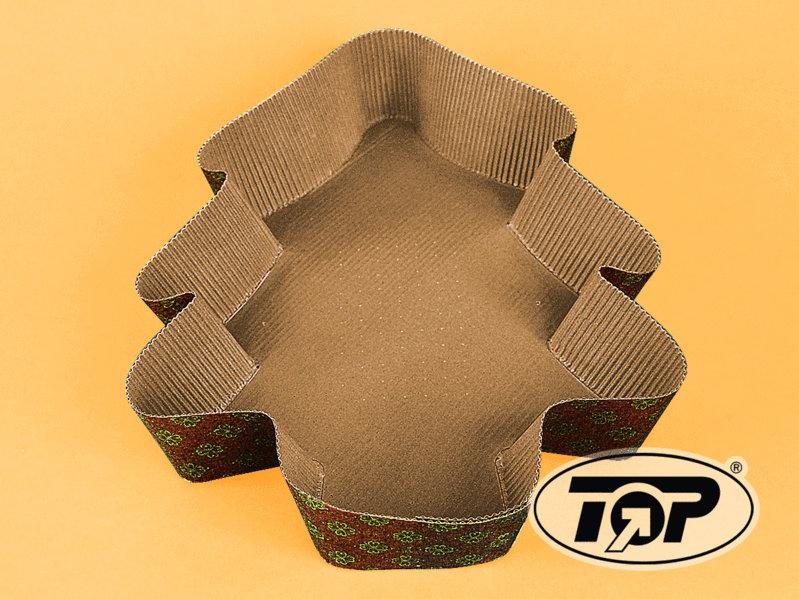 Einweg Backform Papier Motiv Tannenbaum klein 160x140x35mm 200St