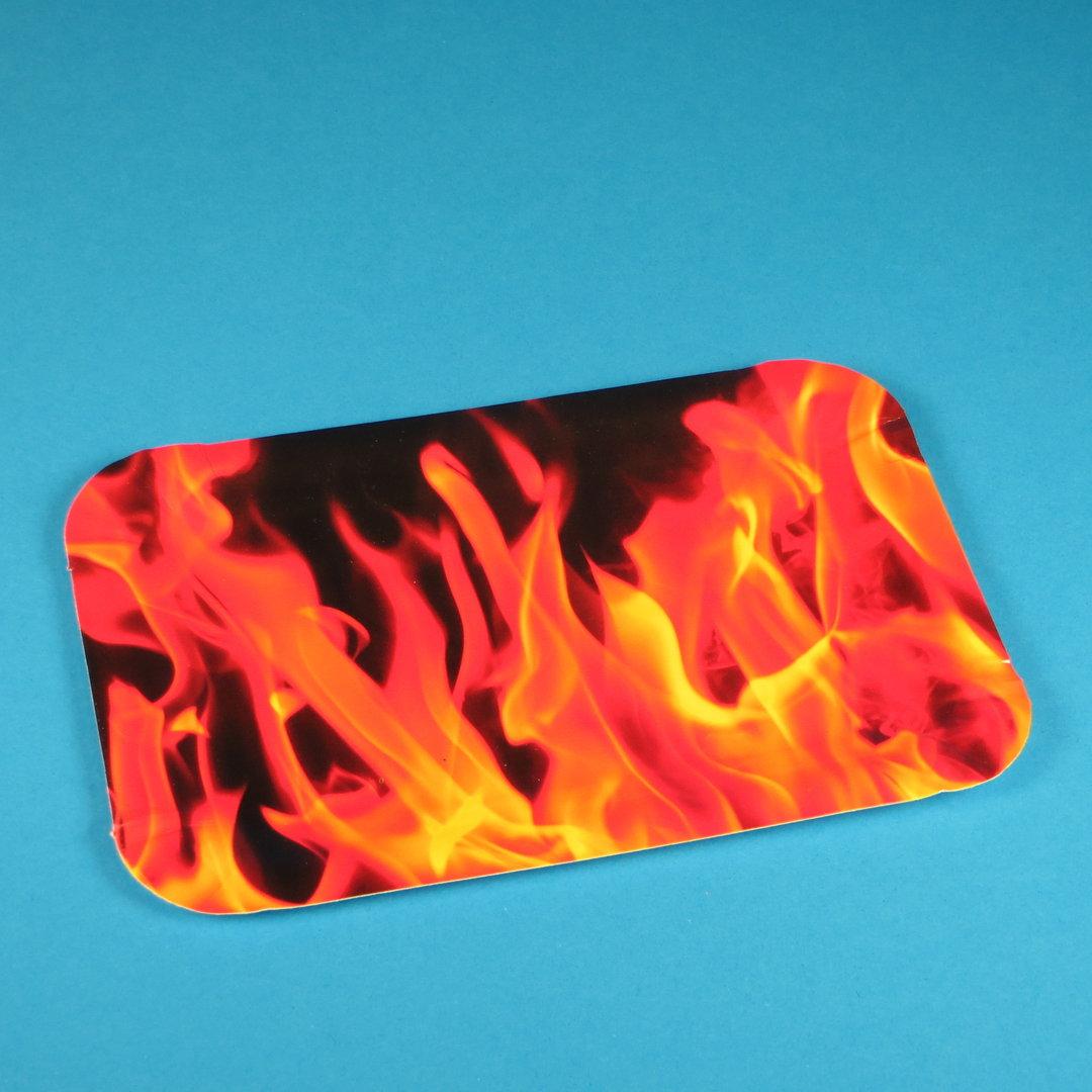 """Pappteller PREMIUM beschichtet """"Hot Fire"""" 19,5x13,5cm 250St."""