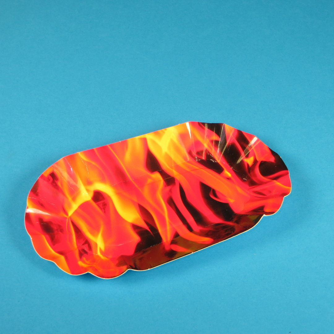 """Pappschale PREMIUM beschichtet """"Hot Fire"""" 16x10x3cm 250St"""