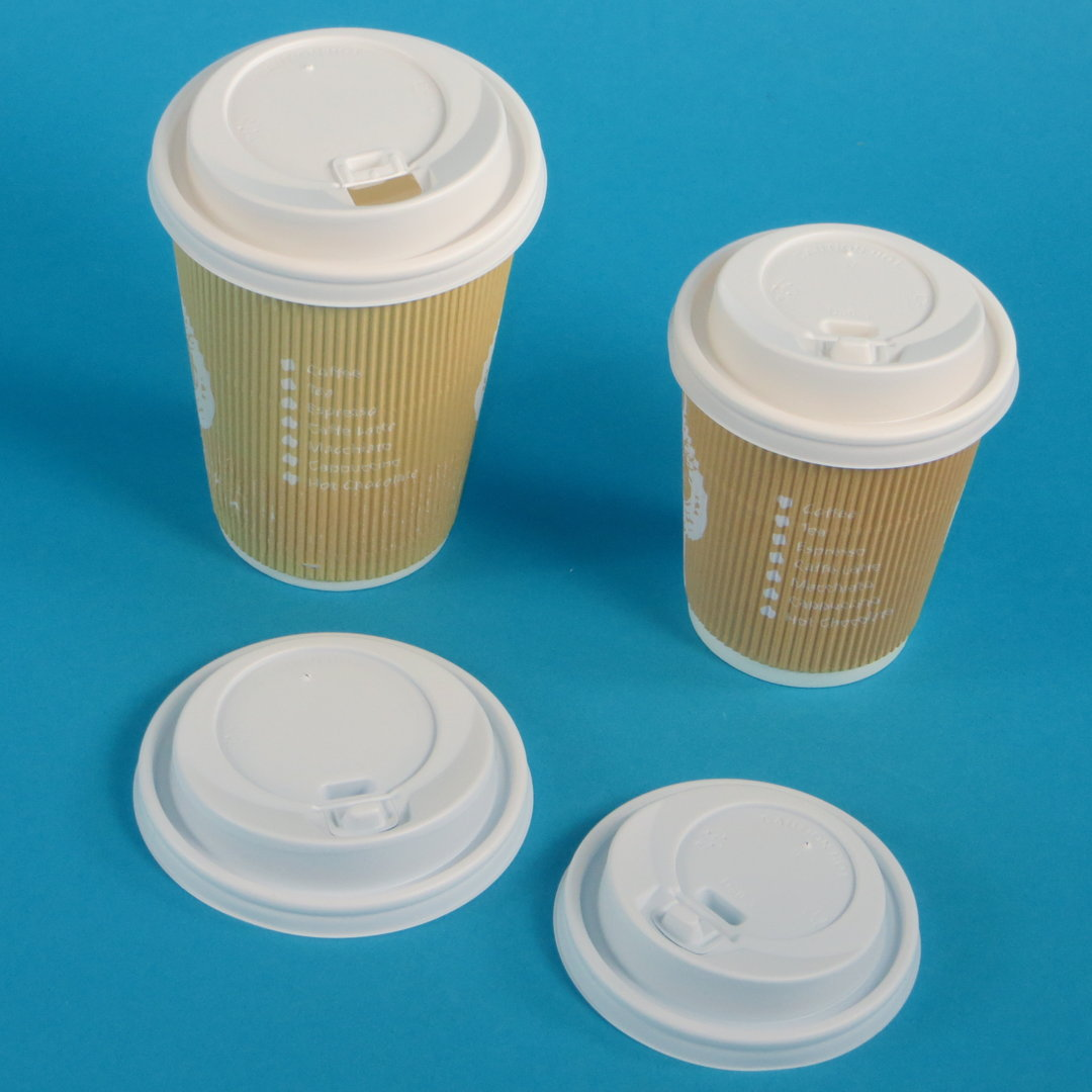 Deckel für Coffee to go Becher mit Lasche weiß Ø80/90mm 1000St