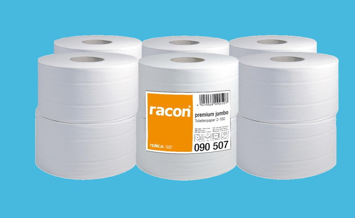 Toilettenpapier 2lg Minijumbo 9,5cm/180m hochweiß 1000 Blatt 12St