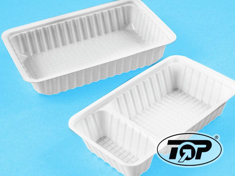 Snackschale weiß 2-geteilt 205x120x35mm 500St
