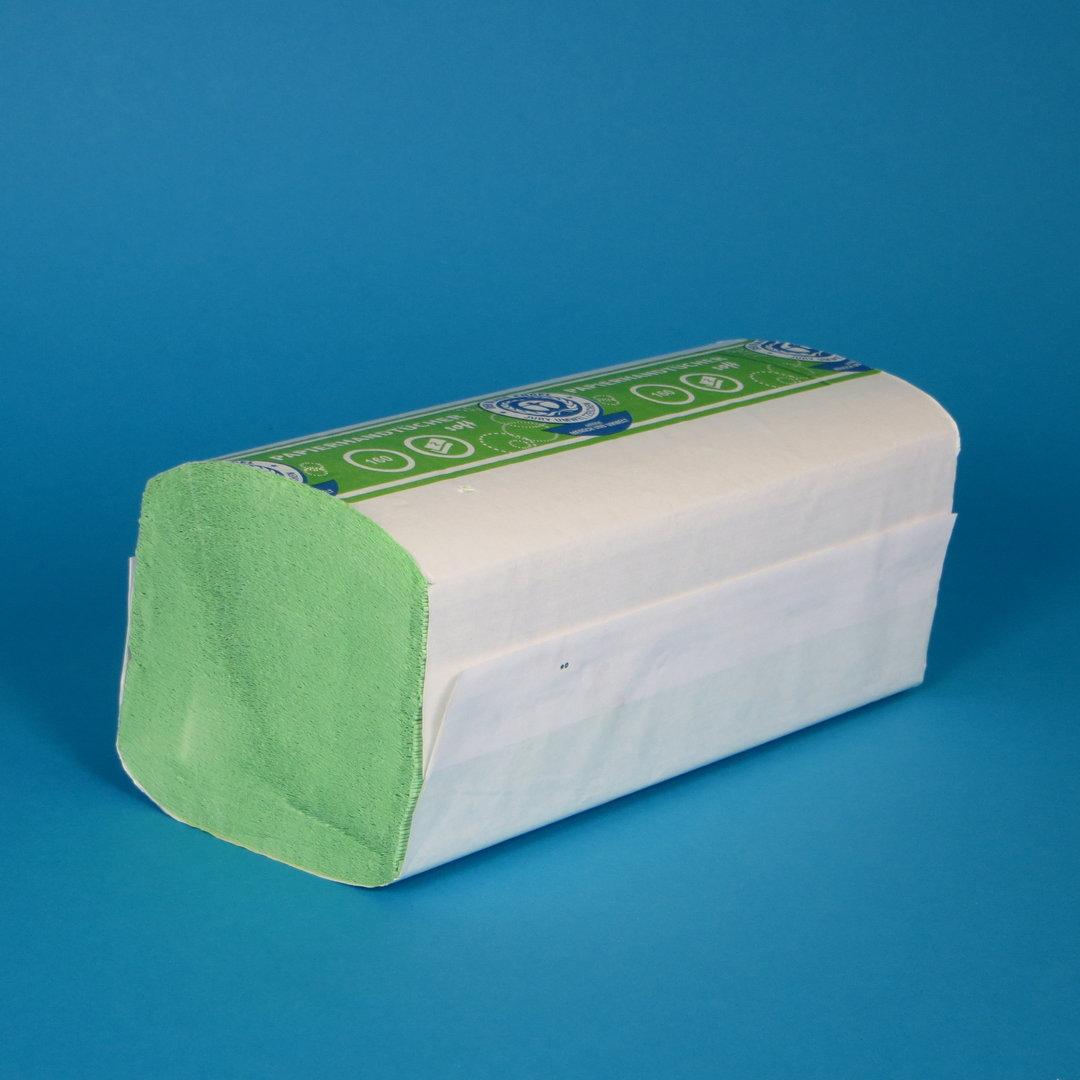 Papierhandtücher grün 24x23cm ZZ 2-lg FSC 4000St