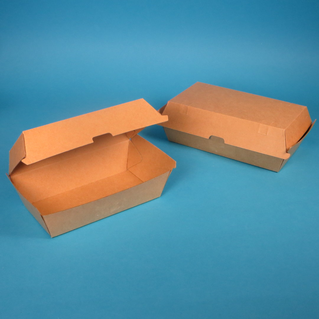 Bio Snackbox Chickenbox braun Kraft 175/200x90/110x85mm 200St