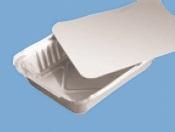 Deckel alukaschiert zu Aluminiumschale eckig R1L 1200St