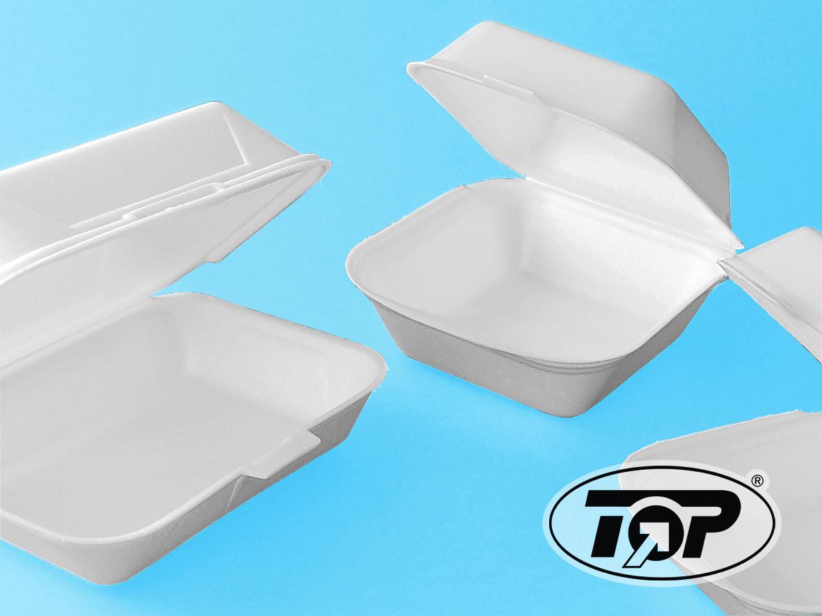 Hamburgerboxen geschäumt weiß klein 125x125x65mm 500St.