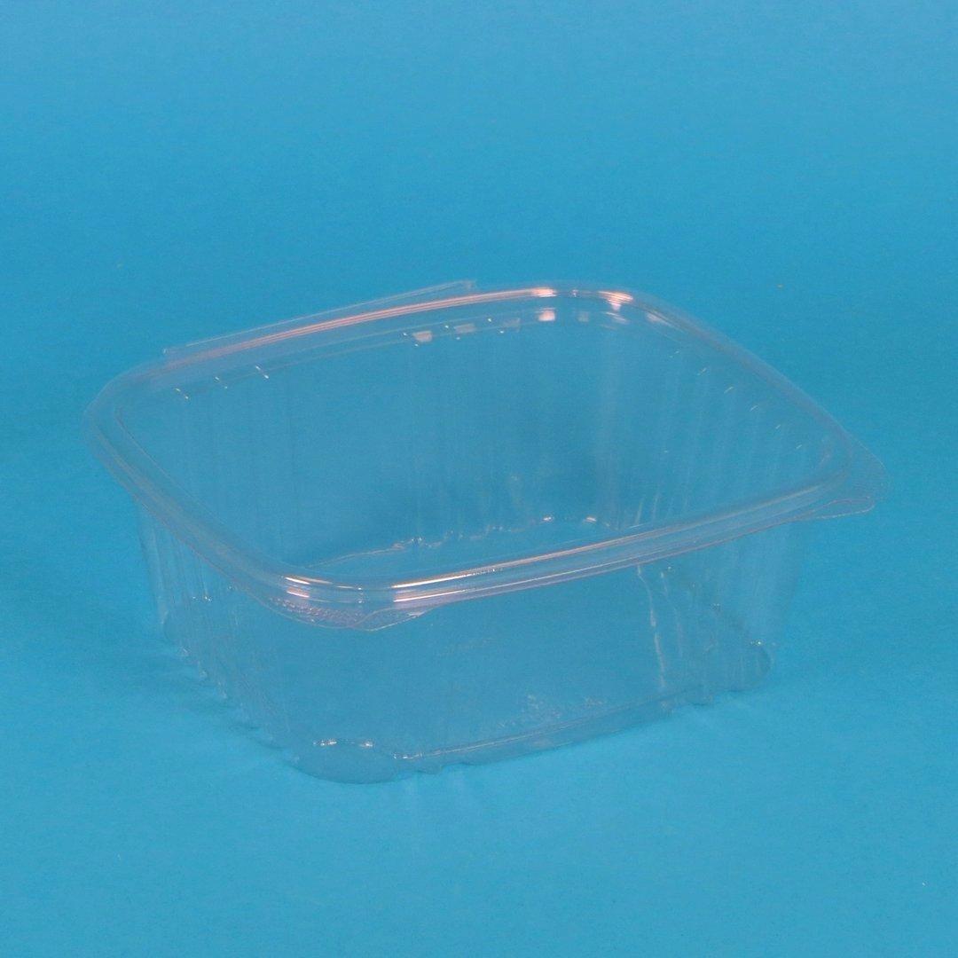 Bio Salatbecher eckig klar PLA 200St versch. Größen