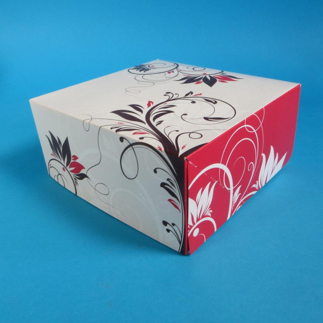 """Tortenkarton klein """"Konditorline"""" 22x22x11cm 100St"""