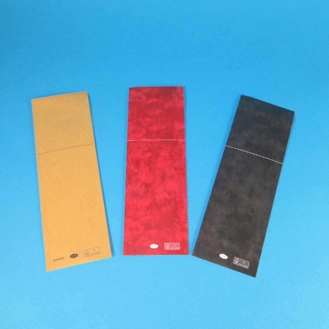 Duni Serviettentaschen 250x85mm verschließbar 500St versch Farben