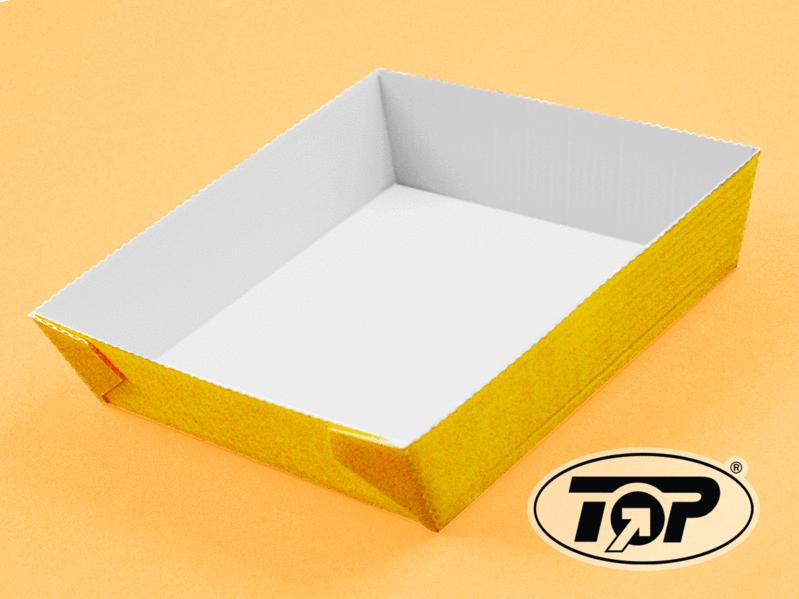 Einweg Backform quadratisch gelb 130x130mm 35mm hoch 500St