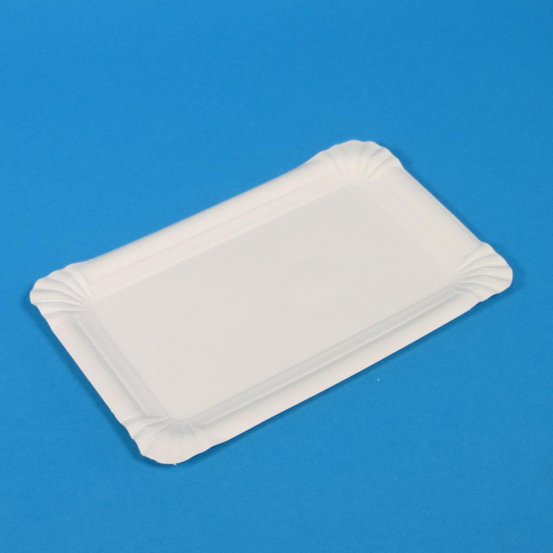 Frischfaser Pappteller 13x20cm weiß 1500St