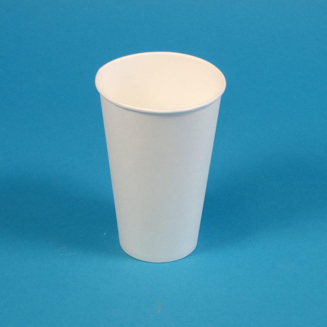 Trinkbecher Hartpapier 400ml weiß mit Eichstrich 1000St