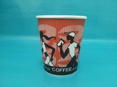 "Coffee Cup Riffelbecher ""Coffee Grabbers"" 8oz 200ml 500St"