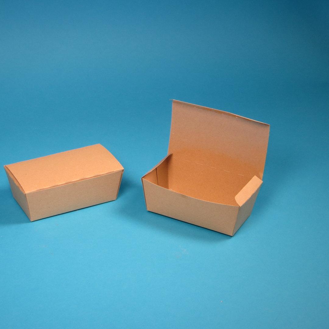 Snackbox Chickenbox klein 124x65x50mm naturbraun Hartpapier 450St