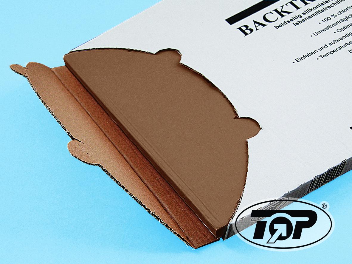 Backtrennpapier Zuschnitte braun 500 Blatt versch. Formate