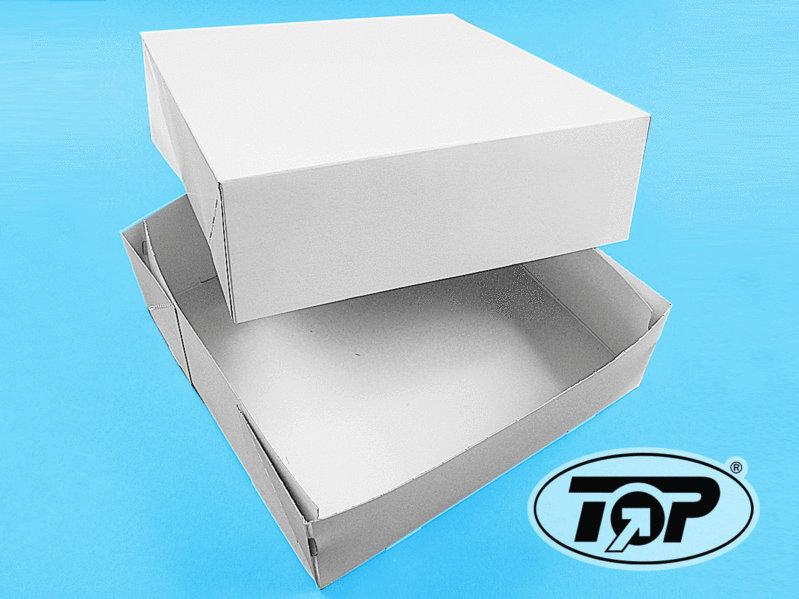 Tortenkarton Unterteil weiß 32,8x32,8x10,9cm 25St.
