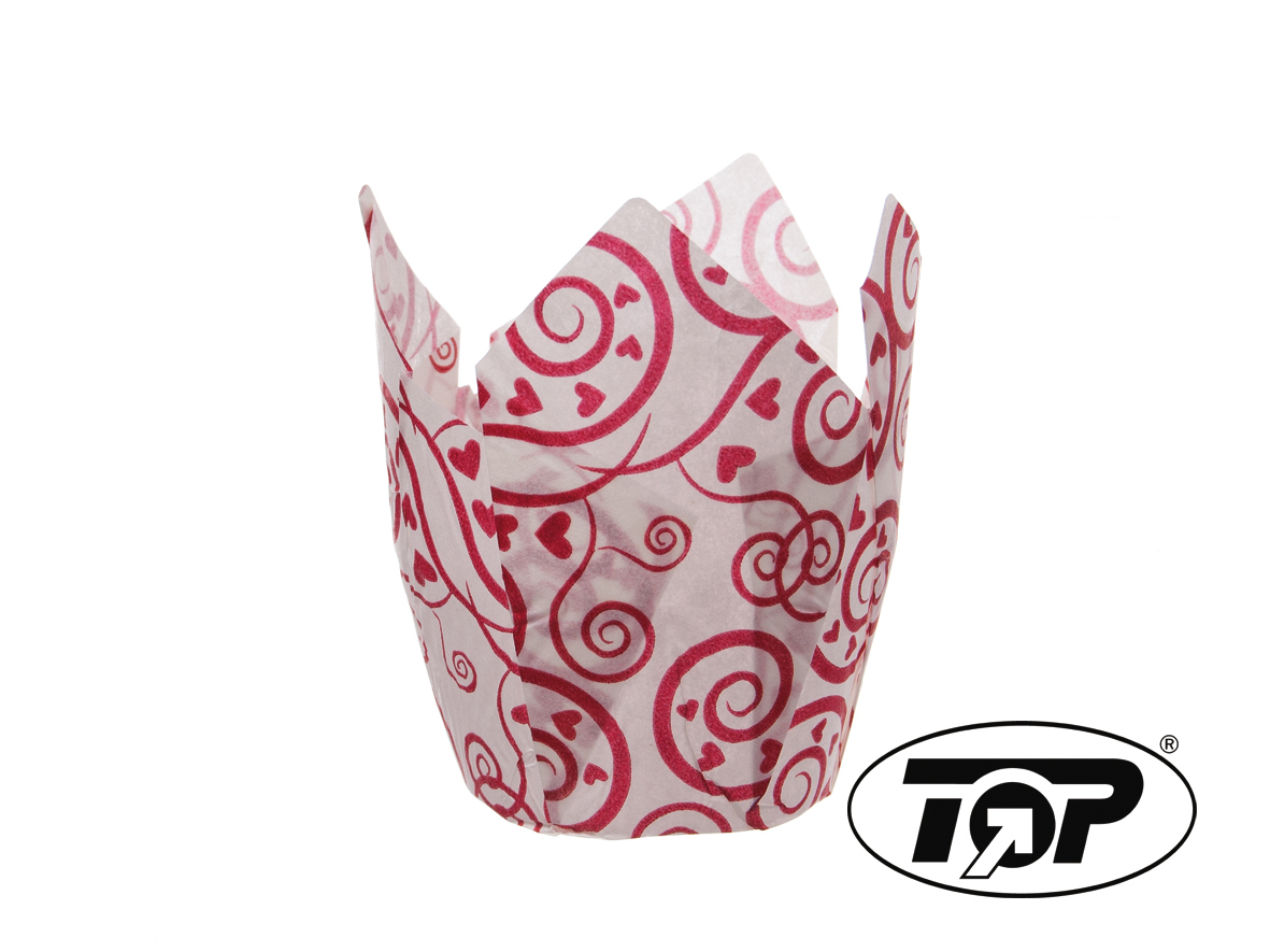 """Muffin Tulip Cup """"Amore"""" 5cm Boden 9cm hoch 1200St"""