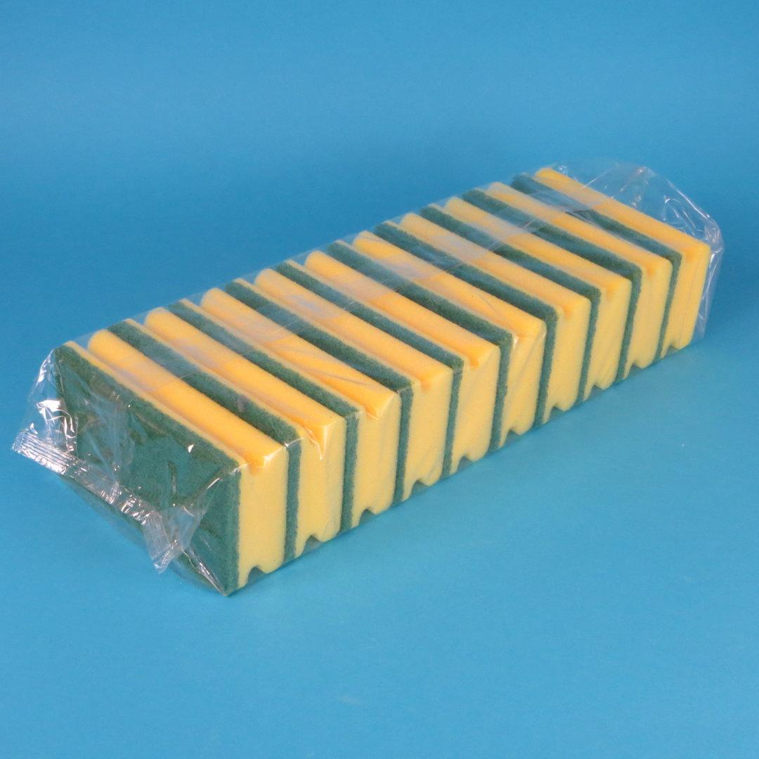 Putz-und Scheuerschwamm grün/gelb 10St versch. Größen