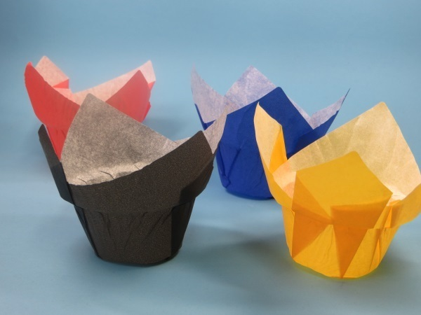 Muffin Tulip Gebäckkapseln Dome schwarz extra breit 4200St
