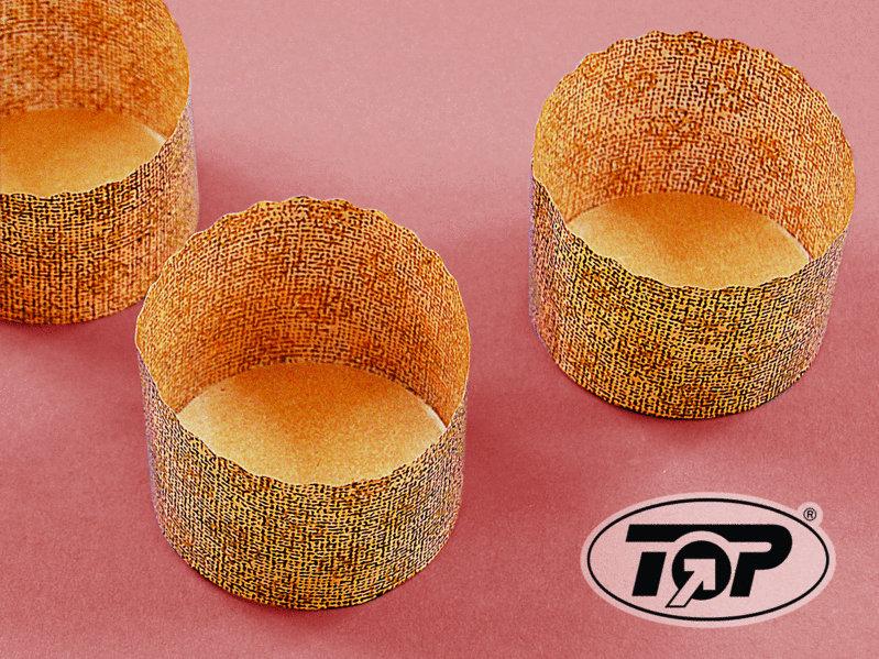 Snack Wrap Kapsel braun gold 70x50mm 2.000St
