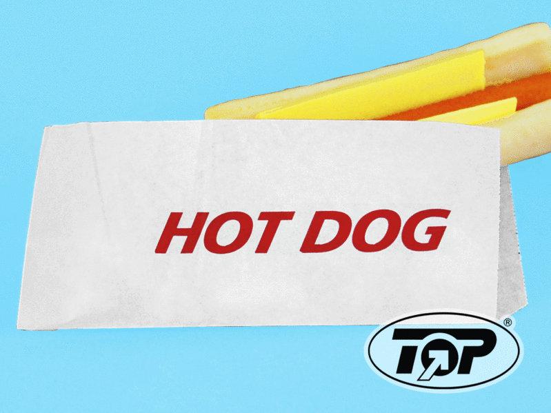 Hot Dog Beutel 9x21cm fettdicht m. Neutraldruck 2.000St