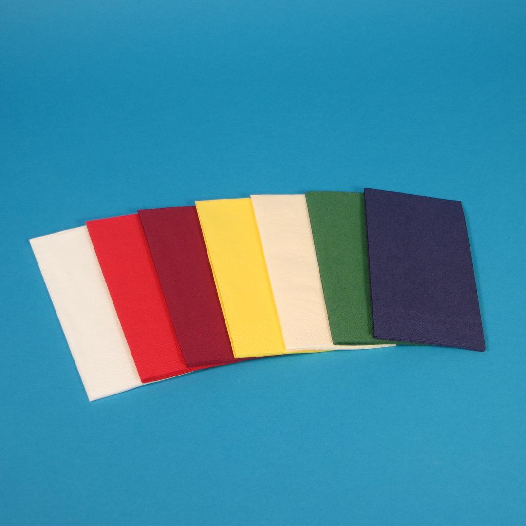 """Tissue Servietten """"Gourmet"""" 33x33cm 3lg 1/8 1000St m. Farbauswahl"""