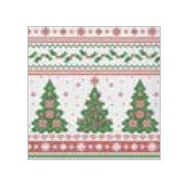 """Tissue Servietten """"Weihnachtsbaum"""" 33x33cm 3lg 1/4 800St"""