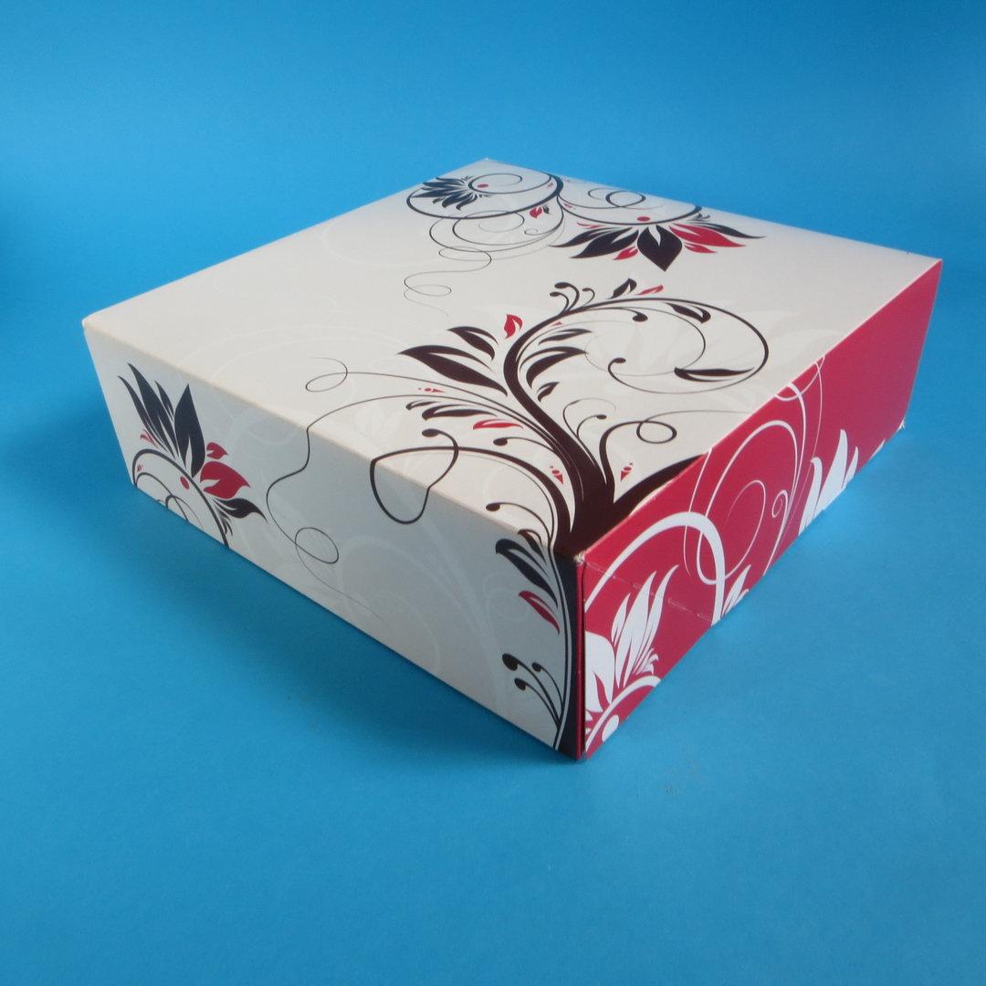 """Tortenkarton """"Konditorline"""" einteilig 34x34x11cm 50St"""