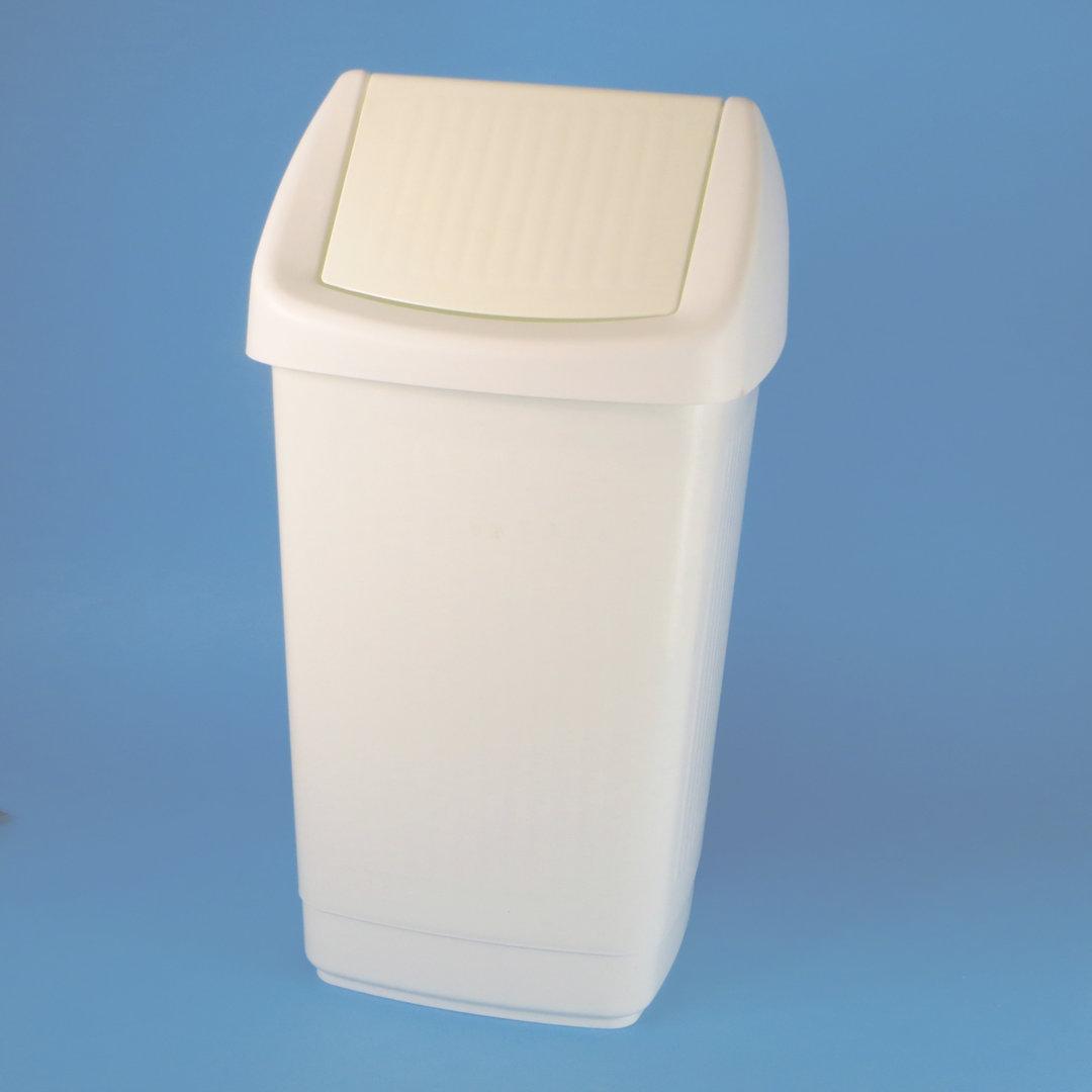 Schwingdeckel Abfalleimer Kunststoff weiß 25l