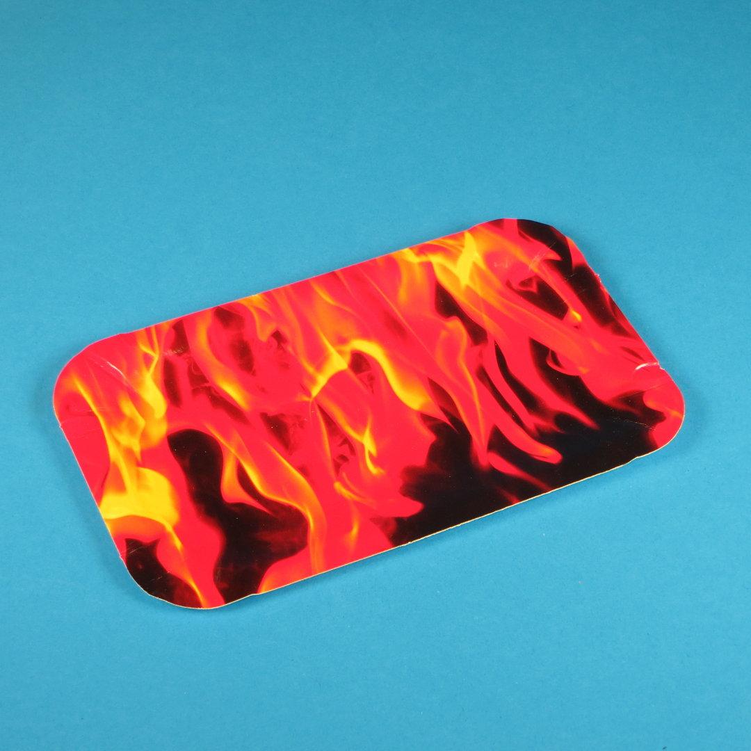 """Pappteller PREMIUM beschichtet """"Hot Fire"""" 18x11cm 250St."""