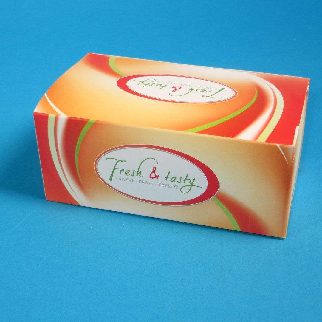 """Snack Faltbox Chickenbox """"Fresh & Tasty"""" 500St"""