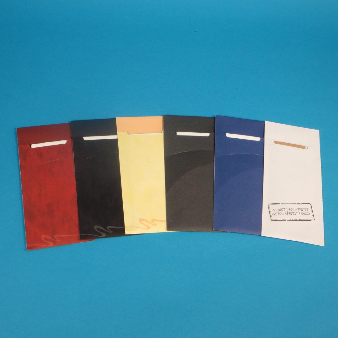 Serviettentaschen inkl. Serviette versch. Farben 520St
